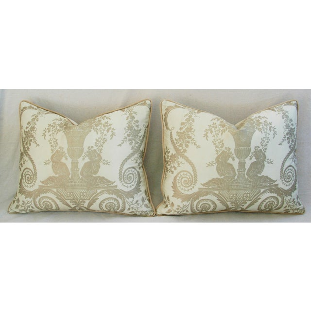 Custom Italian Fortuny Lamballe Pillows - Pair - Image 7 of 11