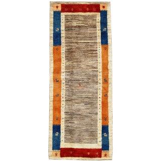 "Traditional Pasargad N Y Genuine Persian Gabbeh Rug - 2′7″ × 6′5"""