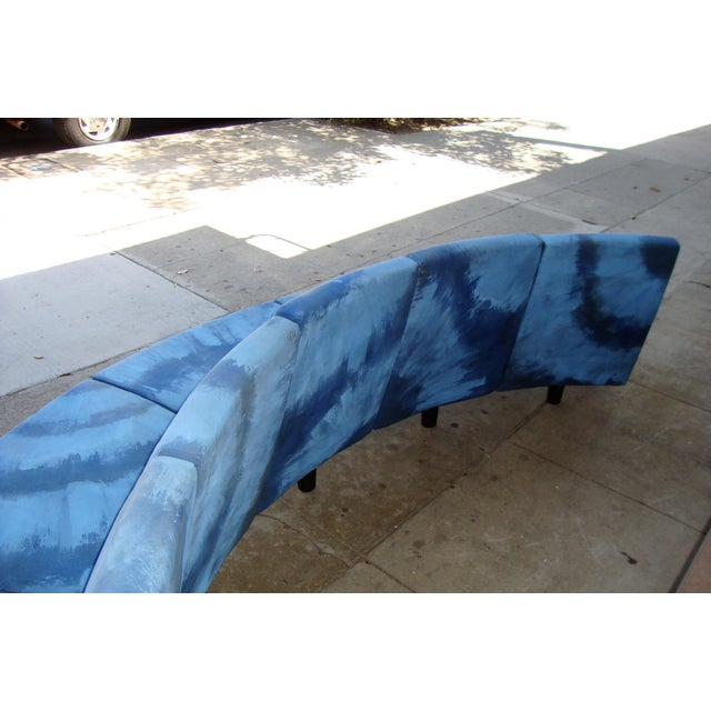 1970s Modern Semi Round Sofa For Sale - Image 5 of 13