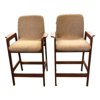 Benny Linden Midcentury Teak Wood Stools For Sale