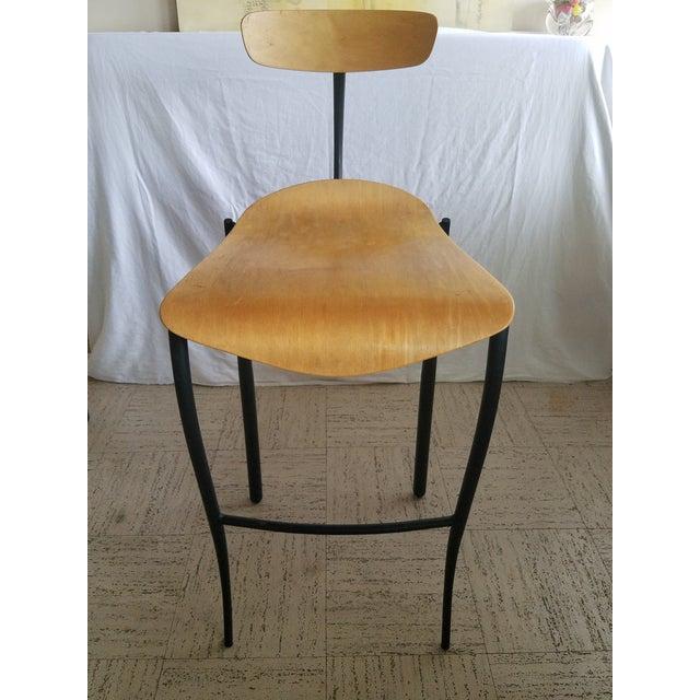 Modern Bar Stools - Set of 3 For Sale - Image 4 of 8