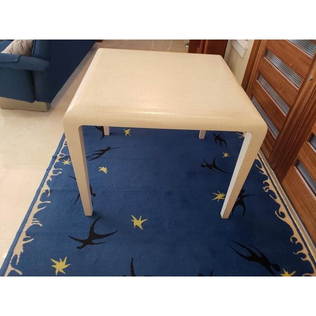 1960s Modern Harrison Van Horn Raffia Game Table For Sale - Image 5 of 9