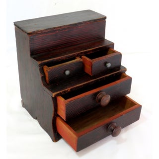 Antique Doll Size Chest of Drawers Preview