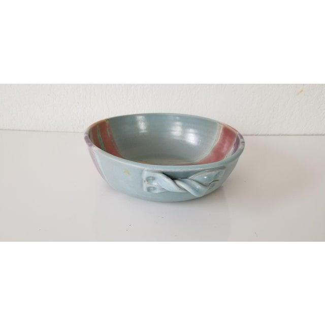 Blue Frank Digangi Art Pottery Bowl . For Sale - Image 8 of 10