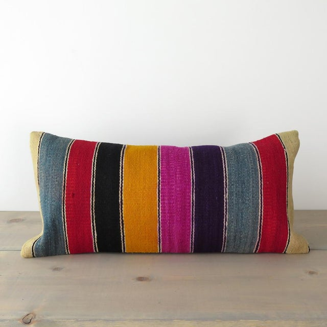 Vintage Striped Kilim Pillow - Image 2 of 7