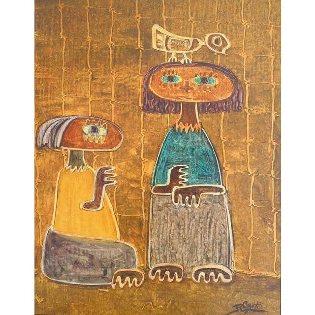 Late 20th Century Original Vintage Post Modern Oil on Canvas-Signed-Raul Conti-Listed Latino Artist For Sale - Image 5 of 8