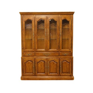 Late 20th Century Vintage Drexel Heritage French Country Style China Cabinet For Sale