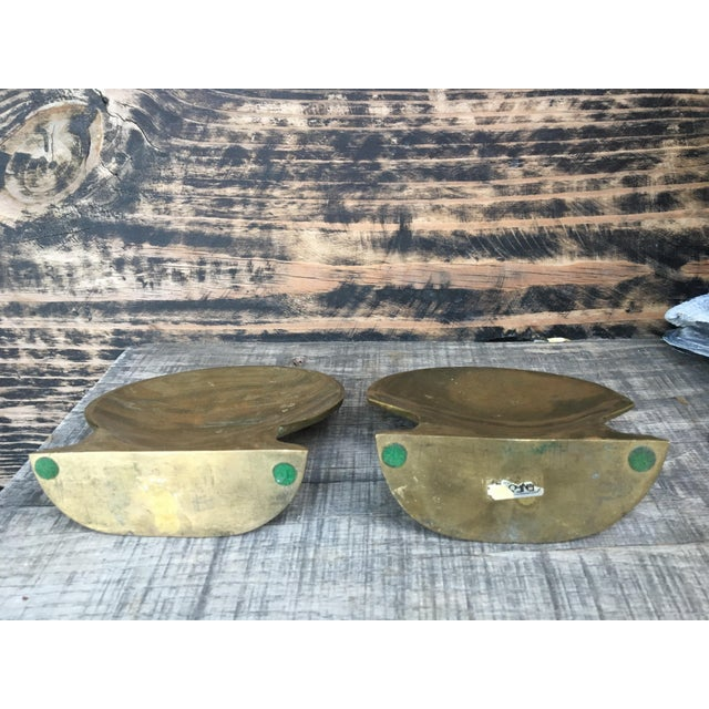 Vintage Brass Shell Bookends - A Pair - Image 6 of 7