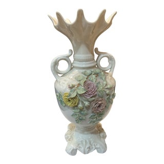 1960s Vintage Belleek Flower Vase For Sale