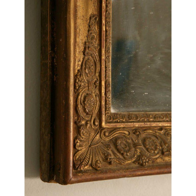 Petite All Original 18th C. Antq French Gilt Framed Sugar Mirror For Sale In Chicago - Image 6 of 12