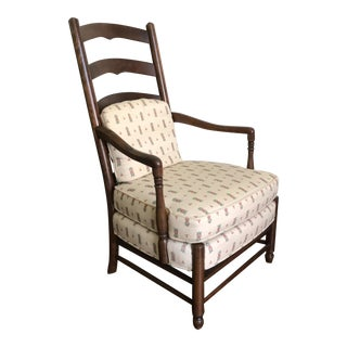 Hickory Chair Co. Ladderback Accent Arm Chair For Sale