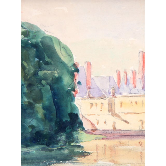 """Chateau in France"" Watercolor Painting - Image 3 of 4"