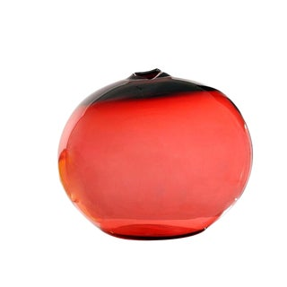 "SkLO Float Glass Vessel 20"" - Red For Sale"