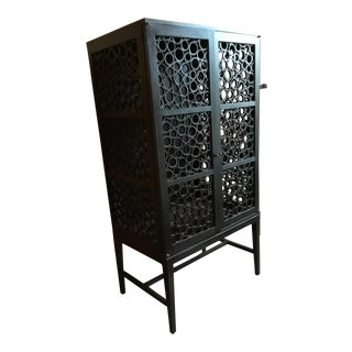 Black Circle Pattern Cabinet For Sale