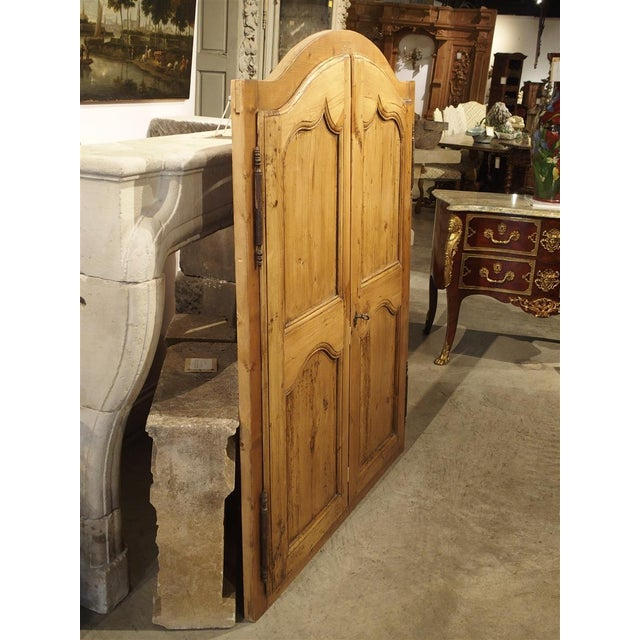 Pair of Antique French Pine Cabinet Doors, 19th Century For Sale In Dallas - Image 6 of 11