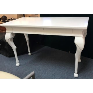 Vintage Chippendale Style Writing Desk With 2 Drawers Preview
