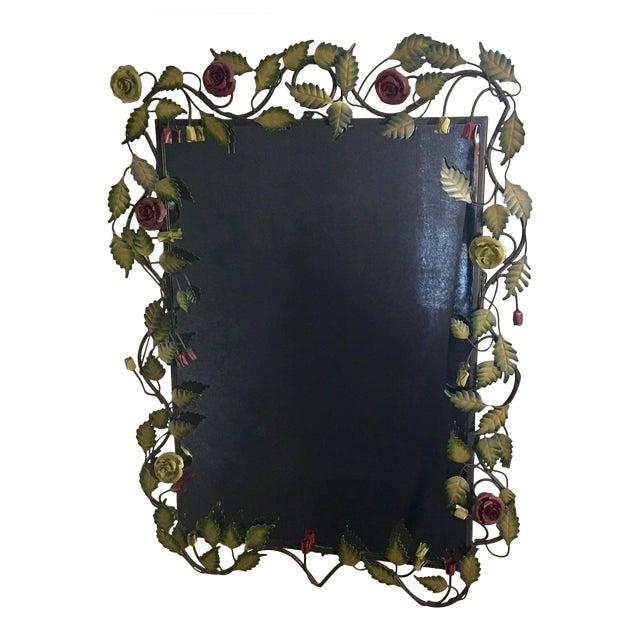 Bronze Framed Rose & Vine Mirror - Image 1 of 10