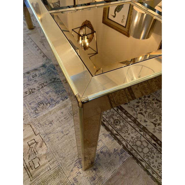1980s Mastercraft Brass Dining Table For Sale - Image 5 of 8