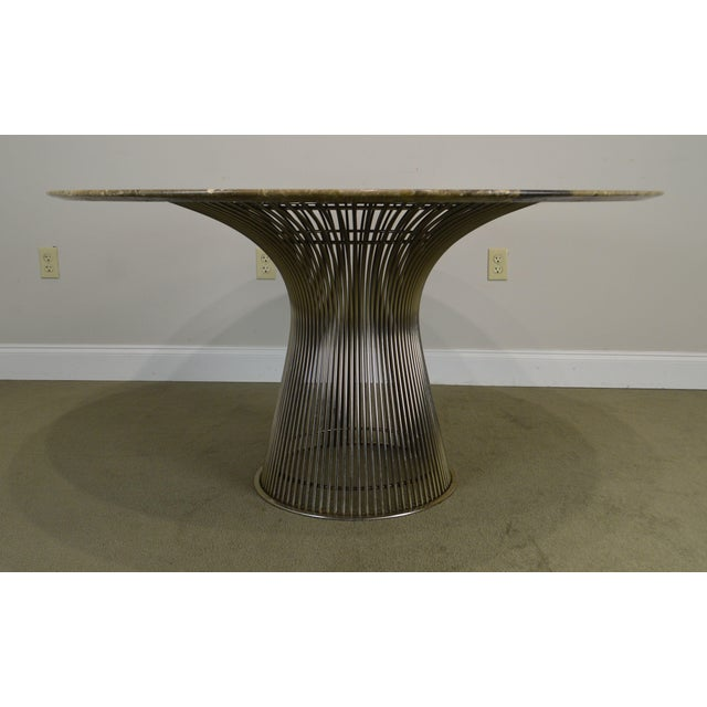 "Warren Platner for Knoll 54"" Round Marble Top Dining Table For Sale - Image 9 of 13"
