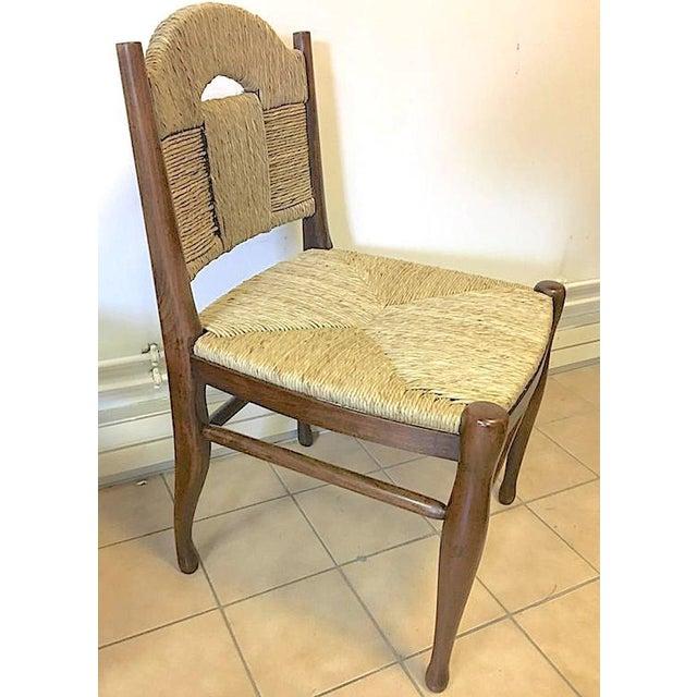 """J.E.Ruhlmann Rare Set of Four Chairs Model """"Rendez-Vous Des Pêcheurs De Truite"""" For Sale - Image 6 of 7"""