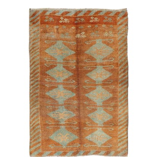 Keivan Woven Arts, TU-9102,Turkish Tulu-Oushak Rug- 4′7″ × 6′2″ For Sale