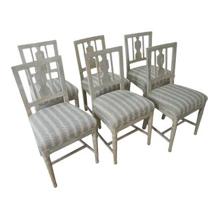 1870s Gustavian Chairs From Stockholm - Set of 6 For Sale