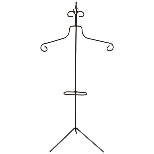 Frederick Weinberg Style Iron Tripod Valet - Image 1 of 9