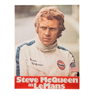 "Vintage 1971 film poster for ""Le Mans"" starring Steve McQueen For Sale"