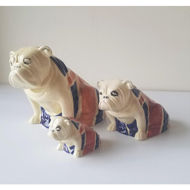 1940s Royal Doulton Winston Churchill English Bulldogs / Union Jack Bulldogs - Set of 3 For Sale - Image 13 of 13