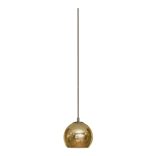 Contardi Kubric SO Pendant Light W/ Diffuser and Cable in Bronze and Gold For Sale