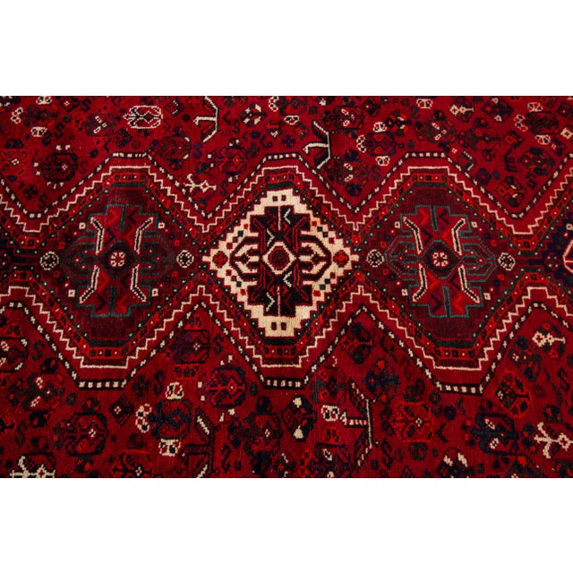 """Vintage Persian Shiraz Rug, 5'6"""" X 8'9"""" For Sale In New York - Image 6 of 9"""