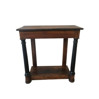 Antique French Empire Console Table With Drawer For Sale