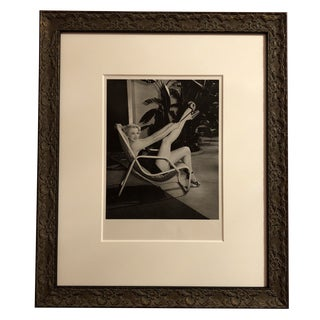 Modern Limited Edition Marilyn Monroe Custom Framed Photograph For Sale