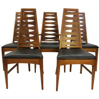 Mid Century Dining Chairs Broyhill - Set of 5 For Sale