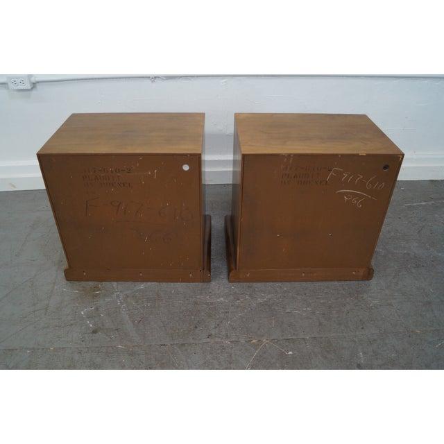 Drexel Plaudit Vintage Walnut Nightstands - Pair - Image 5 of 10