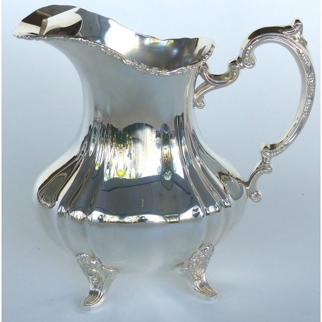 Metal Gorham Electroplated Nickel Silver Footed Water Pitcher For Sale - Image 7 of 7