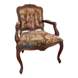 French Provincial Tapestry Armchair