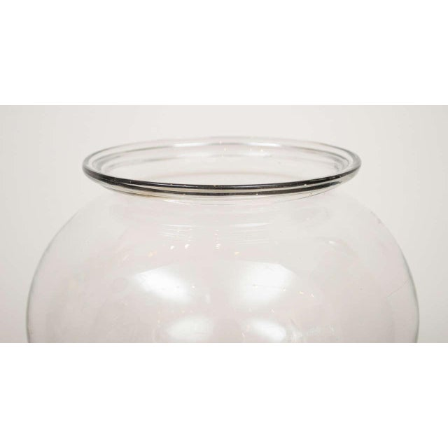 1800s Flint Glass Fishbowl For Sale - Image 4 of 9