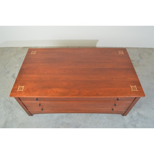 Harvey Ellis for Stickley Square Storage Cocktail/Coffee Table For Sale - Image 9 of 11