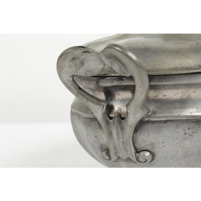 Antique Pewter Tureen For Sale - Image 4 of 8