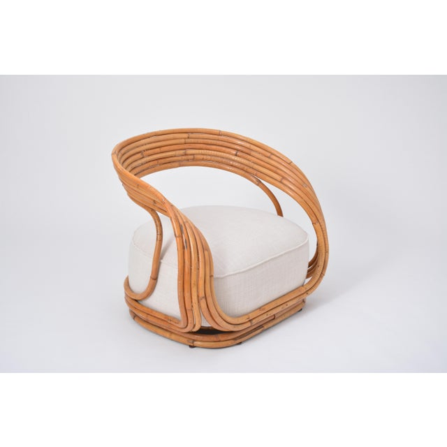 1970s Eva Armchair Designed by Giovanni Travasa for Vittorio Bonacina For Sale - Image 5 of 12