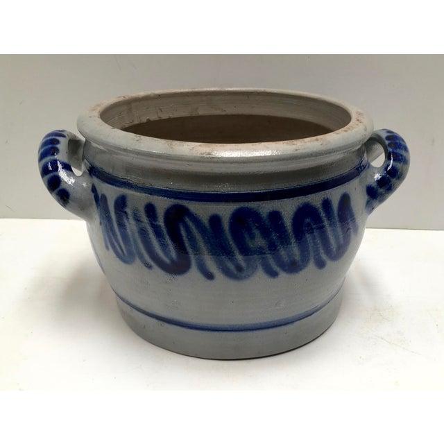 Vintage German Blue Salt Glazed Crock For Sale In Dallas - Image 6 of 9