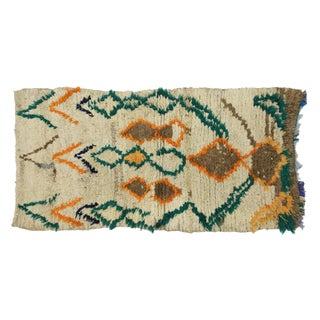 1970s Vintage Berber Moroccan Azilal Rug - 2′5″ × 4′10″ For Sale