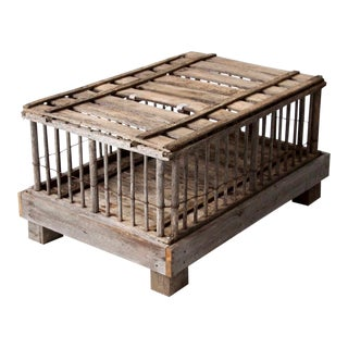 Primitive Farm Cage Trunk For Sale