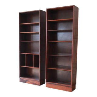 Poul Hundevad Danish Modern Rosewood Bookcase, a Pair