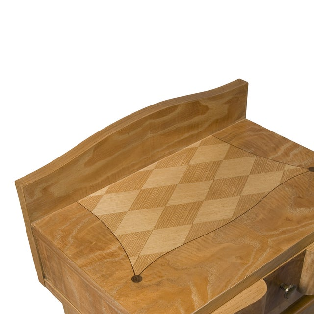 French Oak Inlaid End Tables - Image 4 of 7