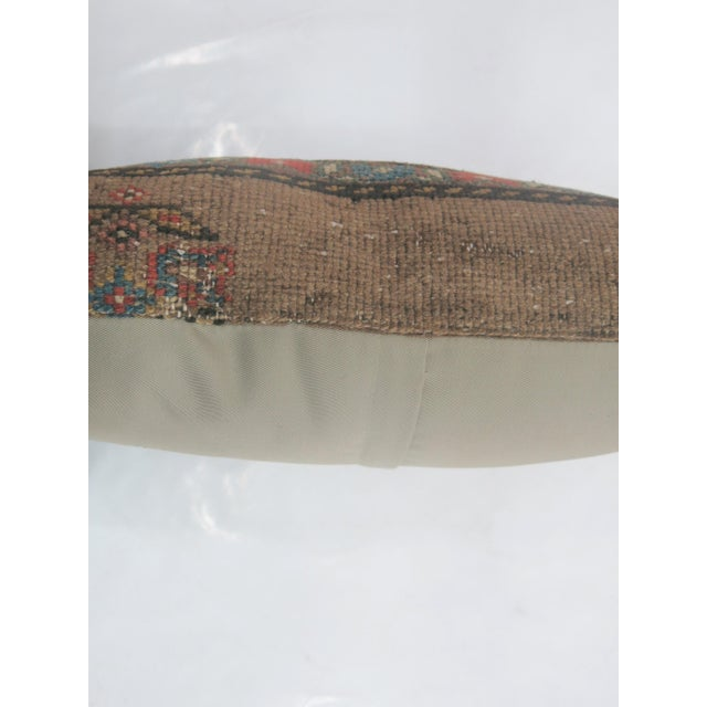 Boho Chic Antique Serab Rug Pillow For Sale - Image 3 of 3
