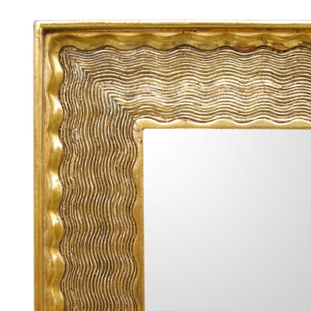 2010s Customizable Elegant Carved Italian Napoli Designer Giltwood Mirror by Randy Esada Designs For Sale - Image 5 of 7