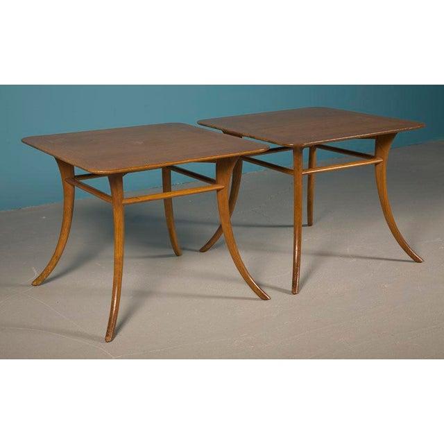 Widdicomb Pair of Sabre Leg Lamp Tables by T.H. Robsjohn-Gibbings For Sale - Image 4 of 4