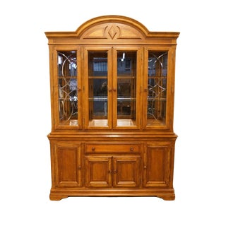 "Alexander Julian Home Colours Collection 61"" Lighted Display China Cabinet For Sale"